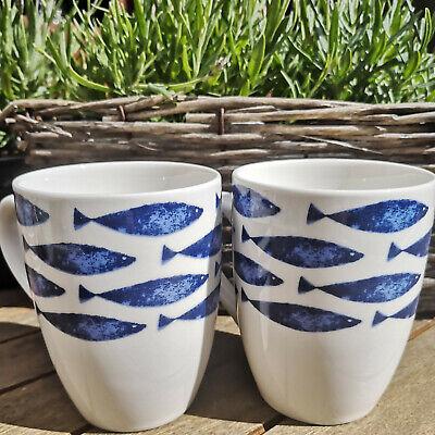 orzellan Kaffeebecher Tasse 300ml Blauweiß Kaffeepot Fisch (Fisch-tasse)