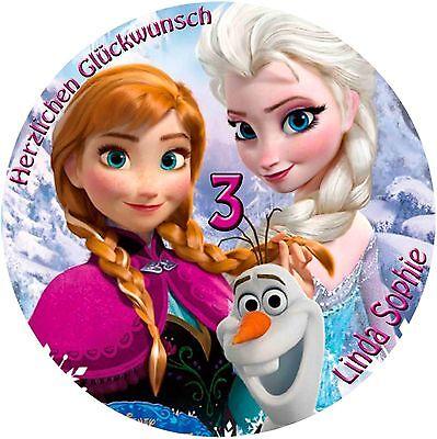 Tortenaufleger Disney Frozen Eiskönigin Elsa, Anna und Olaf Tortenbild (110)