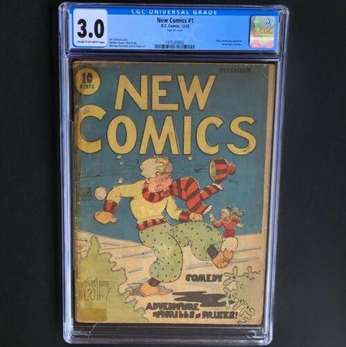 NEW COMICS #1 (DC 1935) 💥 CGC 3.0 💥 19 in CENSUS! Becomes Adventure Comics