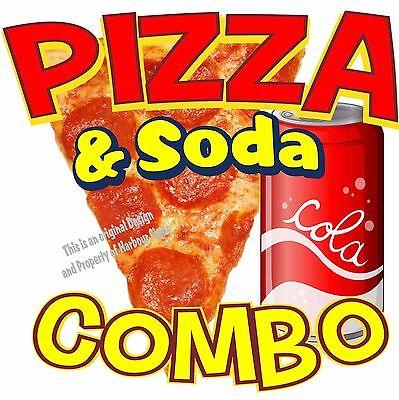 Pizza Soda Combo Decal 14 Italian Restaurant Concession Food Truck Sticker