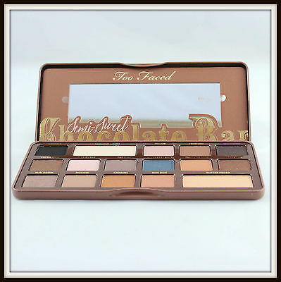 Fair Trade Sweet - Too Faced SEMI SWEET CHOCOLATE BAR Eye Shadow Palette Full New in Box Authentic