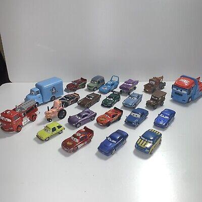 Lot of 22 Disney Pixar Cars 1:55 Scale Vehicles Diecast Mater Mattel