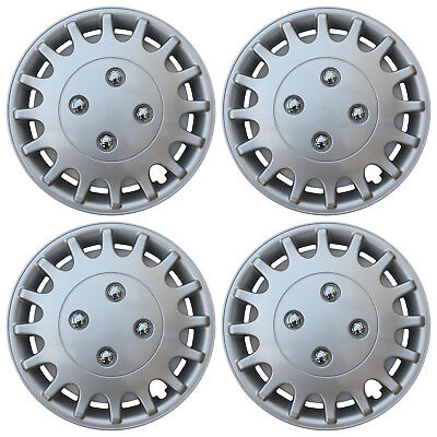 """4 Piece SET Hub Caps ABS Silver 13"""" Inch for OEM Steel Wheel Cover Cap Covers"""