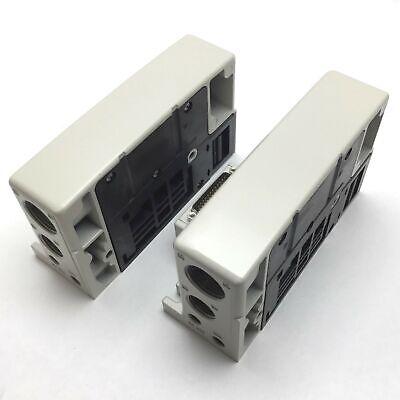 Lot Of 2 Smc Vvqc4000-3a-3t Pneumatic Solenoid Valve Manifold D-side End Plate
