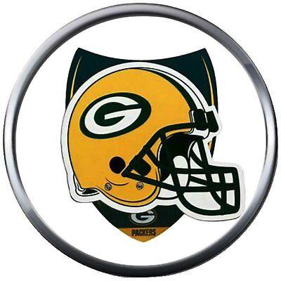 NFL Helmet Shield Logo Green Bay Packers Football Fan Team Spirit 18MM - 20MM Fa 20' Nfl Football Fan
