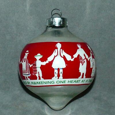 "Christmas Ornament HALLMARK Glass People of the World ""Love Begins"" RARE 1988 3"""