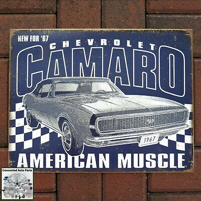 Muscle Car Signs - 67 CHEVROLET CAMARO Tin Sign 1967 Chevy Muscle Car Man Cave Garage Decor S-2135