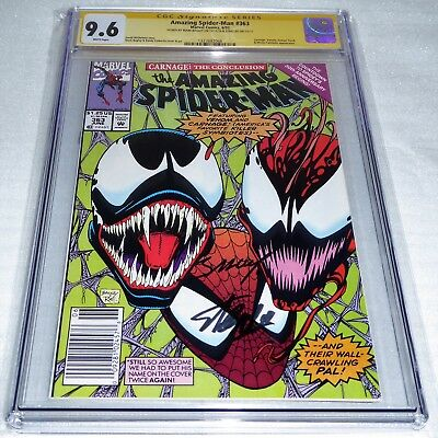 Amazing Spider-Man #363 Dual Signature Autograph CGC SS STAN LEE BAGLEY Carnage