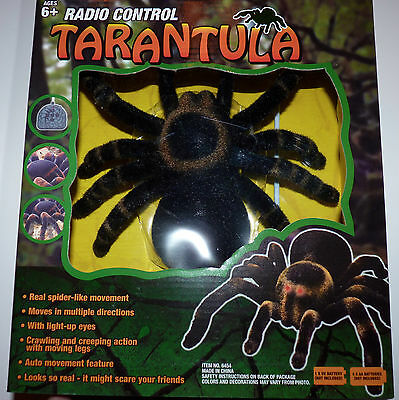 Remote Control Halloween Props (New RC Tarantula Radio Control Spider Remote Control Scary Bug Halloween)