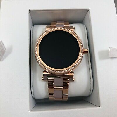 NIB MICHAEL KORS ACCESS MKT5041 Sofie Pavé Rose Gold Smartwatch, $375