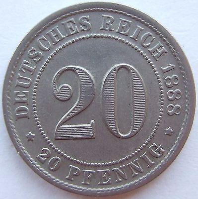 TOP! 20 Pf 1888 F in VORZÜGLICH !!!