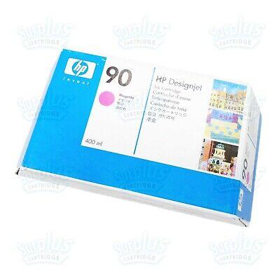 Genuine HP 90 Magenta Ink 400ml C5063A Designjet 4000 4020 4500 4520 (RetailBox)