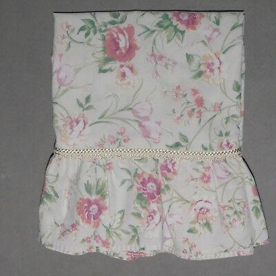 Linens Pillowcase Standard Floral Flounce Rufle Pink