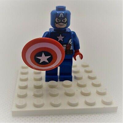 Lego Minifigure Figure Captain America - Blue Suit, Brown Belt Marvel 76017