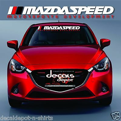 Windshield,Decal,Speed,Car,Sticker,Banner,Compatible With/compare to,Mazda Fits Any Windshield