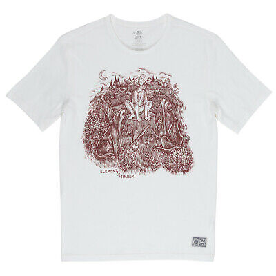 ELEMENT x TIMBER Howl Männer T-Shirt Tee off white Q1SSH5ELF9 0011