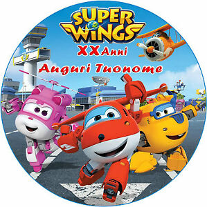 Cialda In Ostia Per Torta Super Wings Personalizzata
