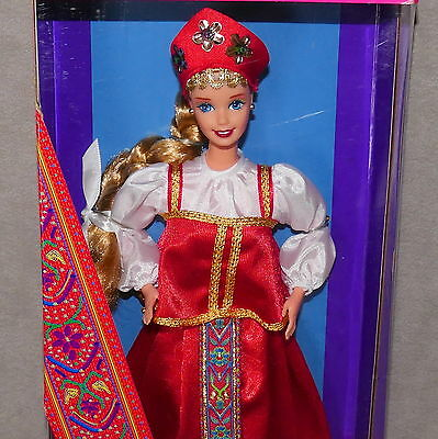 1996 Dolls of the World Collection Russian Barbie Collector Ed NRFB  Age 3+