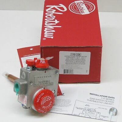 Robertshaw 110-326 Commercial Water Heater Gas Valve For Water Tanks
