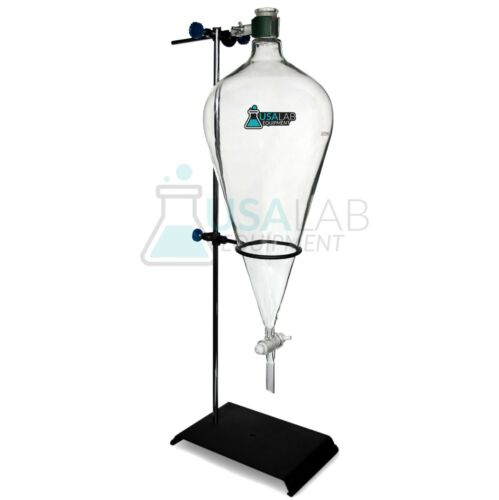 USA Lab 5000mL 5L Separatory Funnel with PTFE Valve