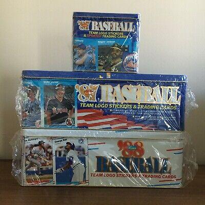 1987 & 1988 Fleer GLOSSY Baseball Factory SEALED & Updated Set Card Tin PSA 10s? Fleer Factory Sealed Baseball