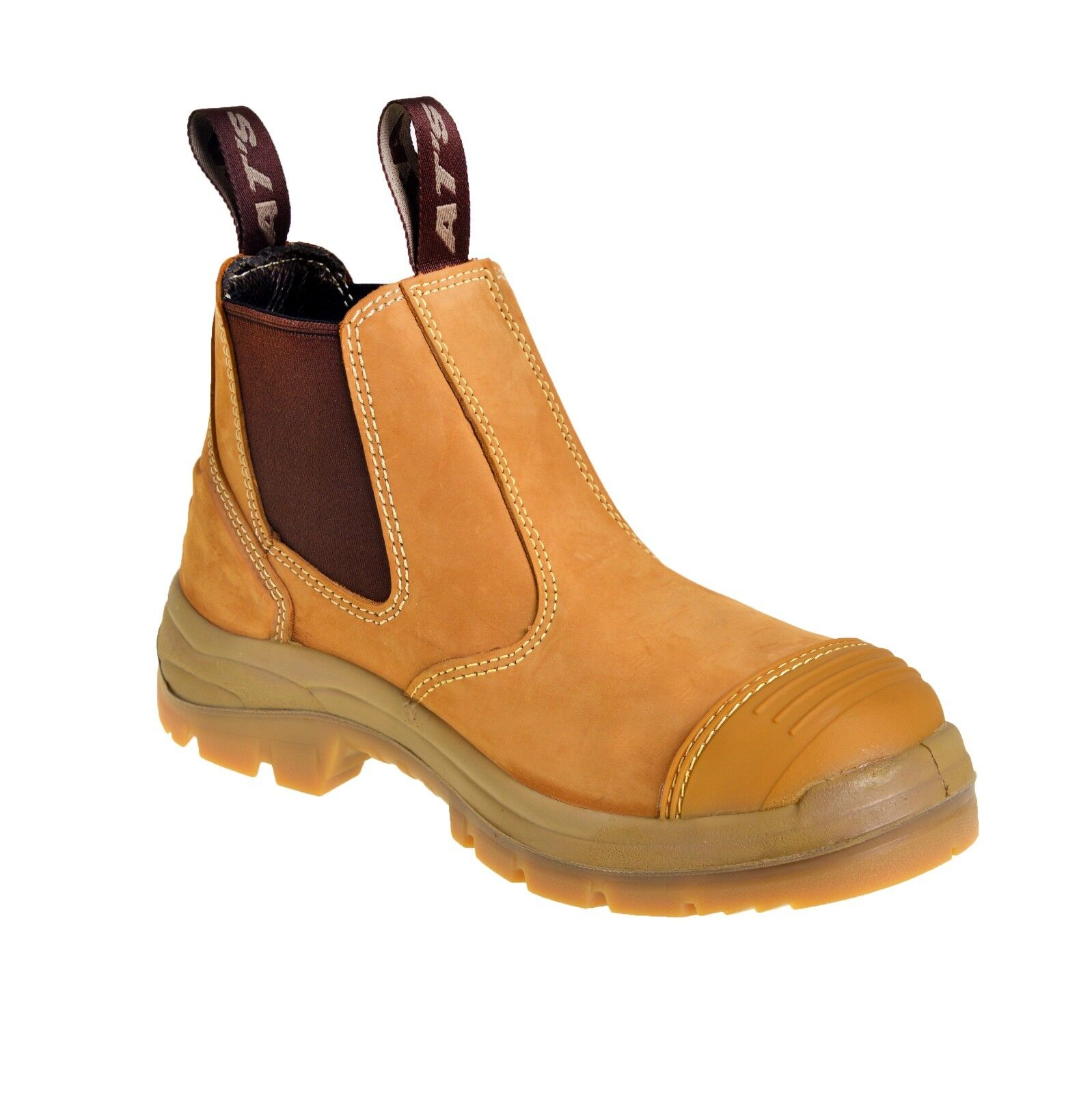 UPDATED STYLE! Steel Toe Safety Elastic Sided Wheat Oliver Work Boots 55322