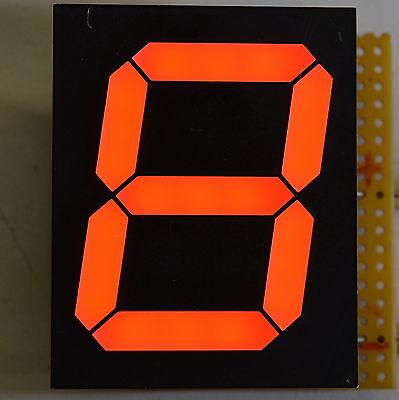 6- Stück  7-Segment Anzeigen 40mm rot, Siebensegment, Gemeinsame KATHODE