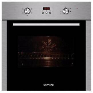D'AMANI 60CM ELECTRIC FAN FORCED OVEN -STAINLESS STEEL -BRAND NEW