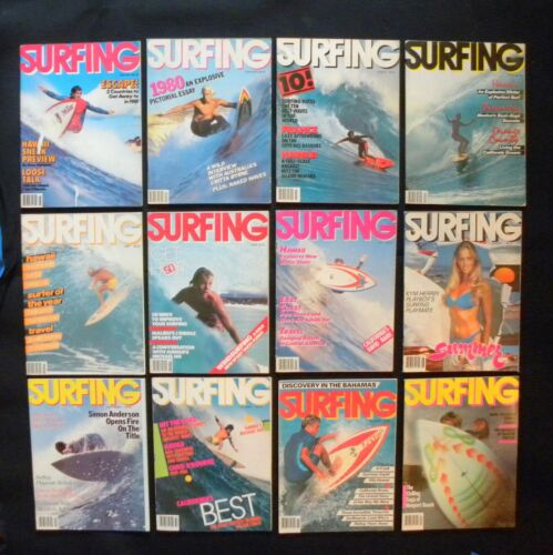 SURFING MAGAZINE 1981 VOL.17  LOT OF 12 ISSUES SURFER LONGBOARDING  HAWAII