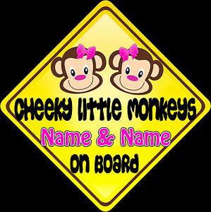 Car-sign-Child-on-Board-Cheeky-Little-Monkeys-Pink