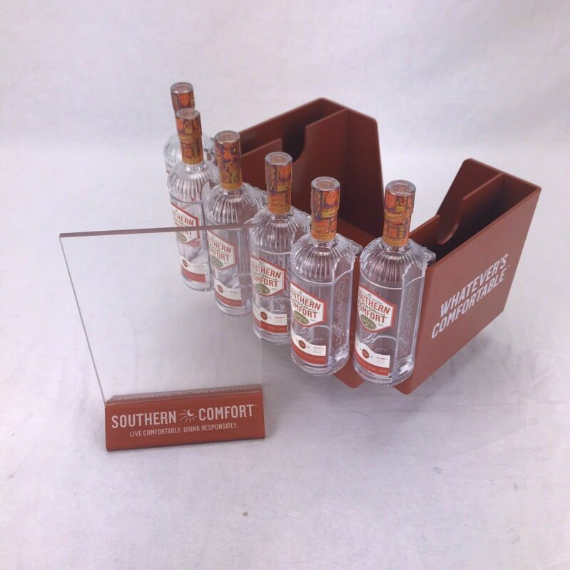 Southern Comfort Bar Lot Napkin Condiment Caddy Sign Holder Hinged Shot Glass