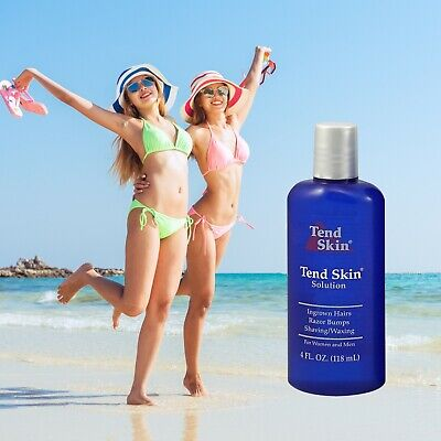 Tend Skin 4oz Solution/Liquid for Ingrown Hair & Razor Bumps-Exp 5/2021 New Tend Skin Liquid
