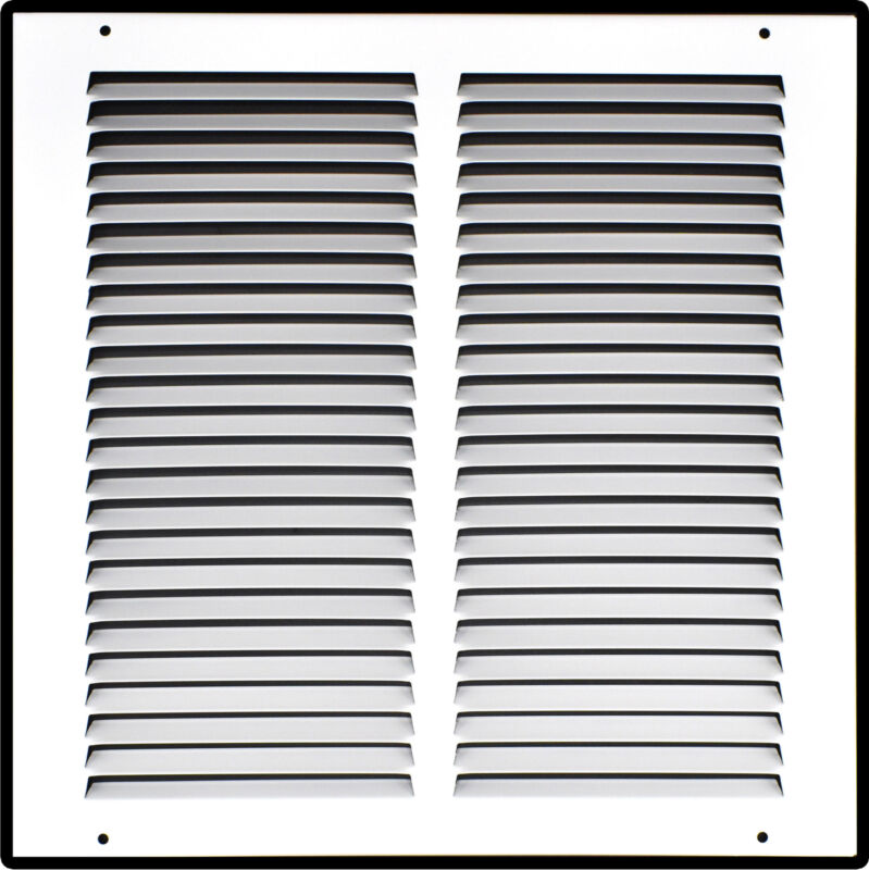 Heavy Duty Steel Return Air Grille   HVAC Vent Cover Grill, White