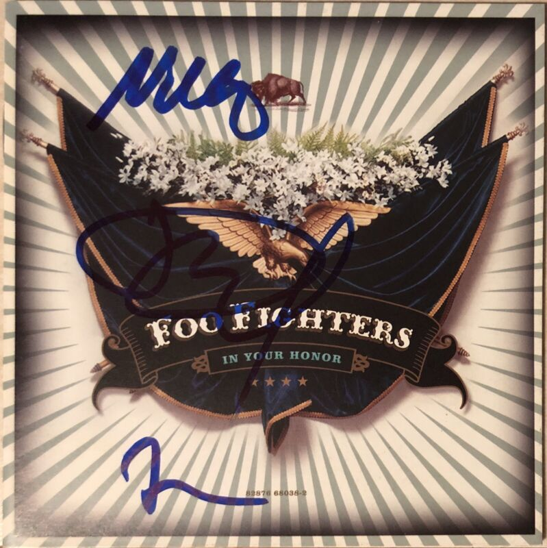 Foo Fighters Signed Autographed In Your Honor CD Dave Grohl Taylor Hawkins +1