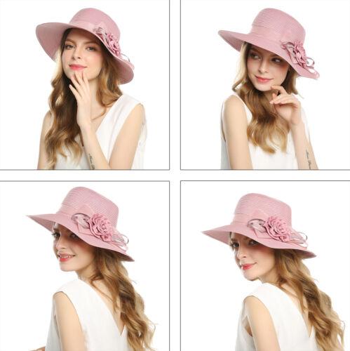Mode Damen Hüte Sonnenhut Strand Strohhut Sommerhut Breit Rand Diskette  Mützen