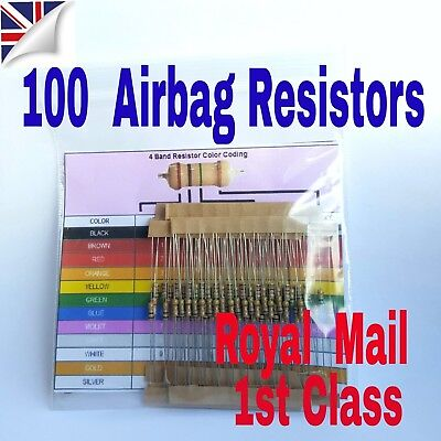 100 Airbag Resistors Trade pack bypass light all makes