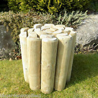 270mm High Log Roll - Log Rolls - Lawn Border Edging - Timber Garden Edge - ruddings wood - ebay.co.uk