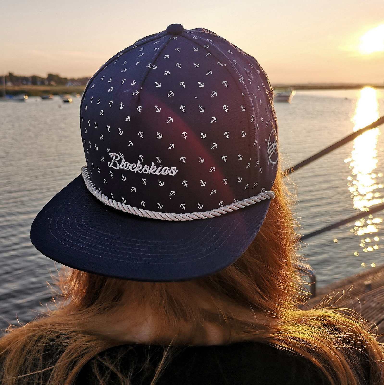 Blackskies Harbor Snapback Cap Mütze Baseball Kappe Basecap Anker Cappy Maritim