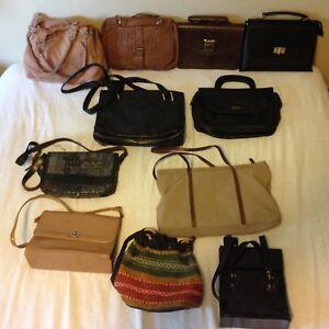 Variety of lovely purses and handbags