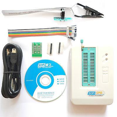 Sp8-a Sop8 Clip Universal Usb Bios Programmer Flasheepromspi Ic Socket Adapter