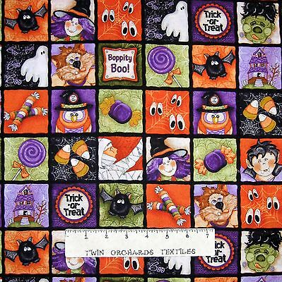 Halloween Fabric - Boppity Boo Scary Motifs Square Patch - Red Rooster YARD](Halloween Motifs)
