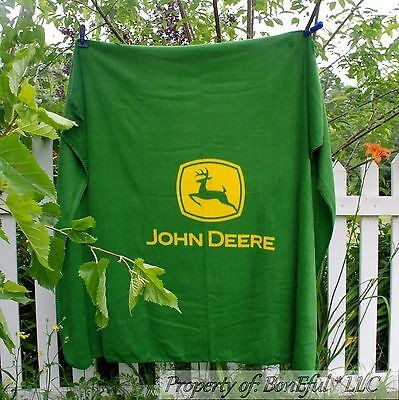 BonEful FABRIC Flimflam Blanket Quilt Eminently Bring down 50X60 Lg John Deere Work the land Tractor