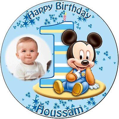 Tortenaufleger Disney Baby Mickey Maus oder Minnie Maus Erster Geburtstag (309)
