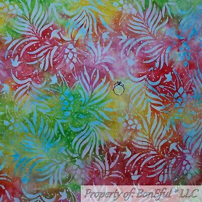 BonEful Fabric Cotton Quilt Rainbow Tonal Batik Flower Leaf Tropical Fruit SCRAP - Kids Rainbow Bright Costume