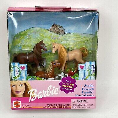 Vintage Barbie Stable Friends Family Mini Horse Set Magnificent Manes New