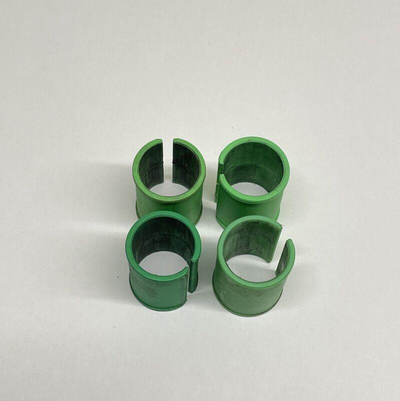 PRESTON OFFBOX/31 SET OF FOUR ROUND 25mm LEG INSERTS GREEN - USED CONDITION