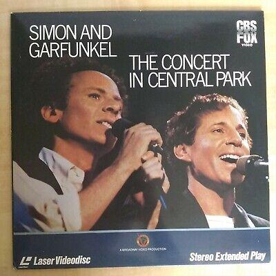 Simon And Garfunkel - Concert In Central Park- Laserdisc - 12 INCH DISC -1982