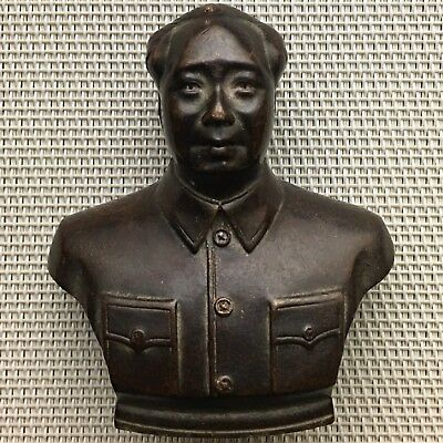 Old Chinese Antique,Great Leader,Chairman Mao Zedong 毛泽东,78X70X30 mm,242 g