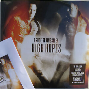 BRUCE SPRINGSTEEN LP x 2 + CD High Hopes 180g + PROMO SHEETS Ltd. SEALED Vinyl