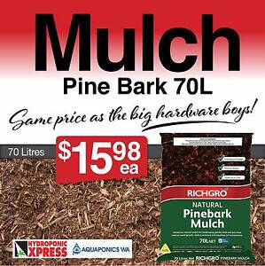 Mulch Pine Bark 70 Litres Canning Vale Canning Area Preview